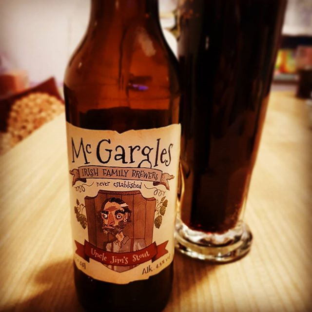 Stout. #mcgargles Uncle Jim's. #slainte