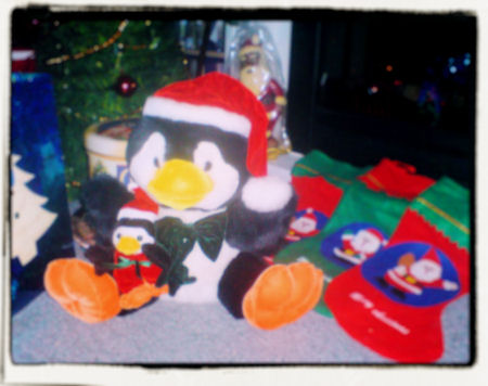 xmas pinguins rock